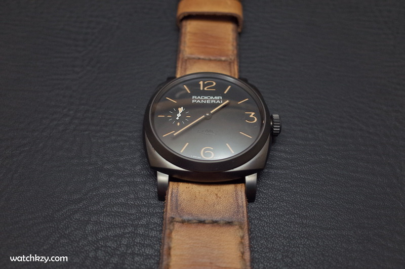 PAM Panerai straps  Gunny Straps for PVD DLC watch vintage style handmade leather strap