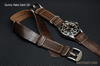 Gunny Leather Nato for Relex, Omega, Panerai.. สายนาโต้หนัง