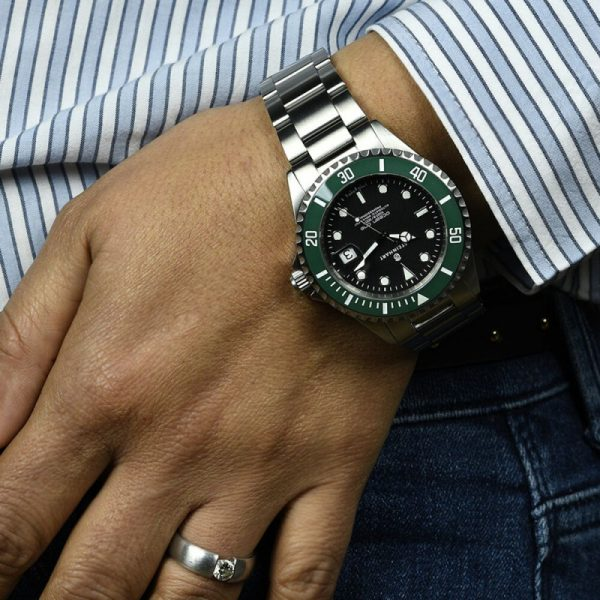 Steinhart Ocean One Green Ceramic Man wrist shot 2